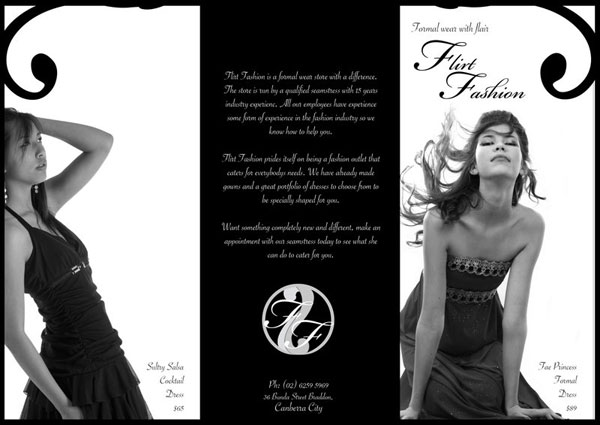 20 latest trifold brochure template designs 2011 for Fashion brochure template