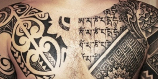 20 amazing tribal tattoos for men themescompany for Embossed tattoo designs