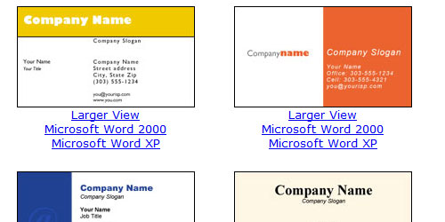 Word business card themescompany for Business card templates for word free download