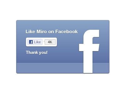 Facebook like UI for Miro by Morgan Allan Knutson