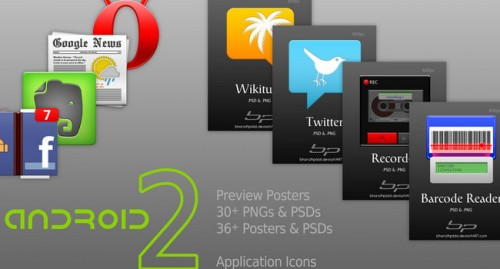 Android Icon Templates II