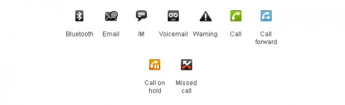 Android Standard Status Bar Icons