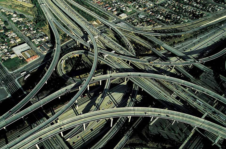 Freeways in Los Angeles, USA