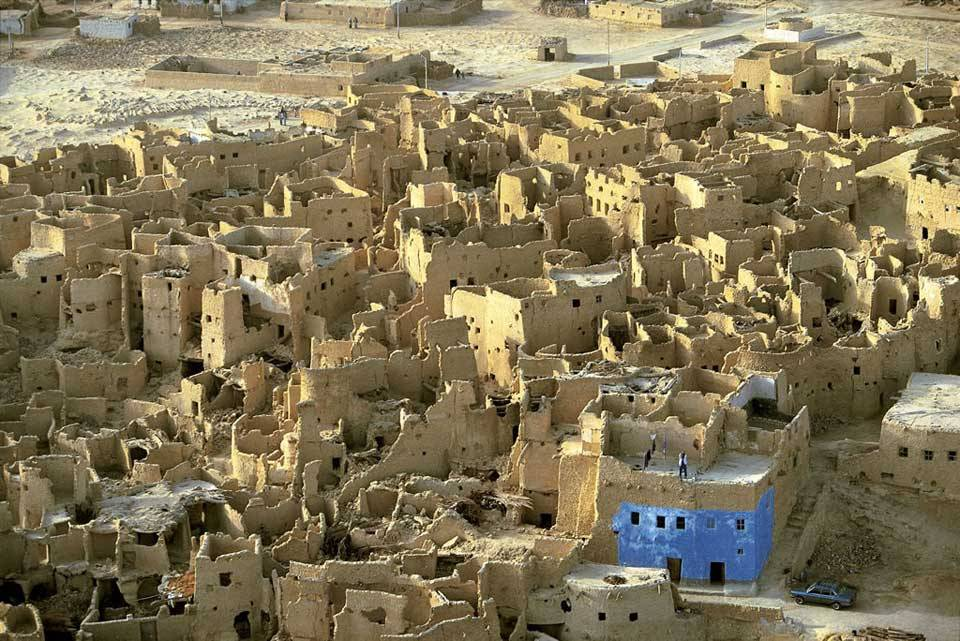 Ruins of the medieval city of Shali, Egypt