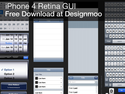 iPhone 4 GUI PSD by Rich Hemsley