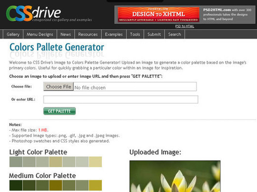 Colors Pallete Generator