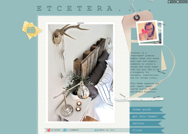 Etcetera Tumblr Theme