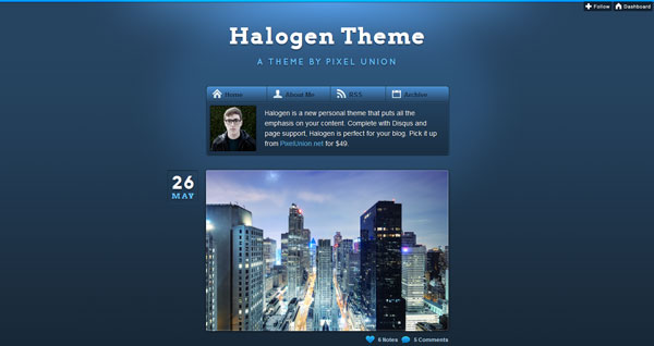 Halogen Tumblr Theme