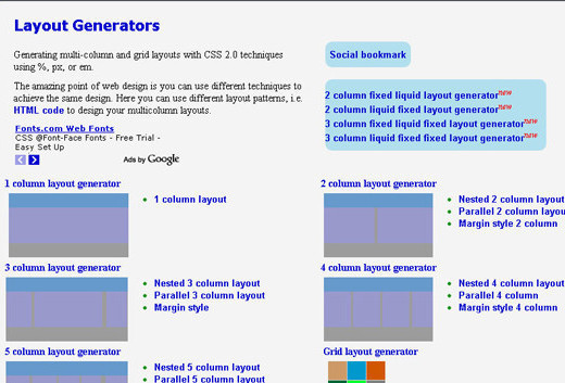 Layout Generator Best Css Css3 Tools And Auto Generator