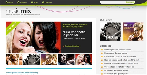 MusicMix WordPress Theme