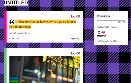 Plaid Tumblr Theme