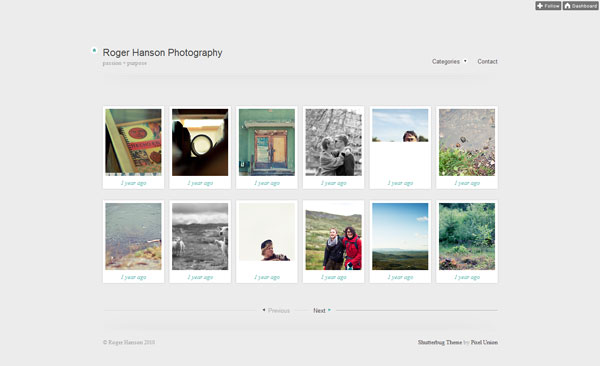 Shutterbug Tumblr Theme