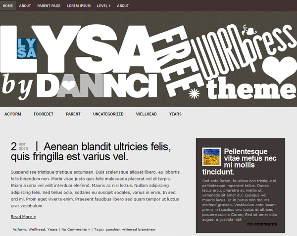 lysa wordpress theme