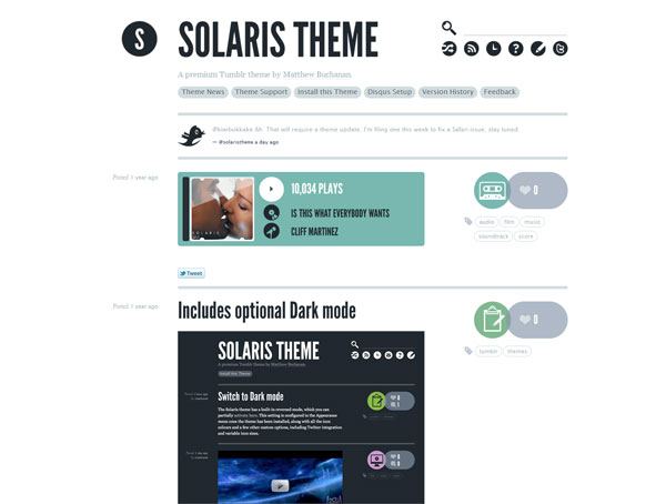 solaris tumblr theme