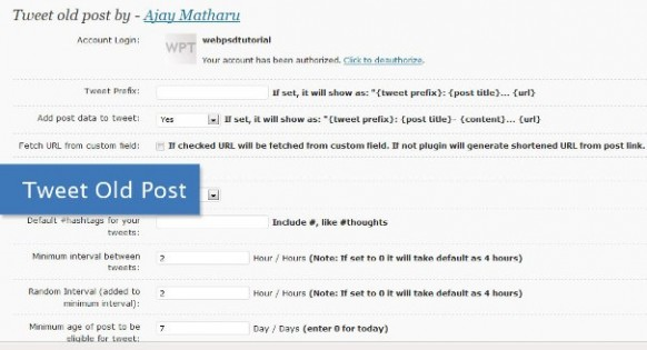 Tweet old Post best plugins wordpress