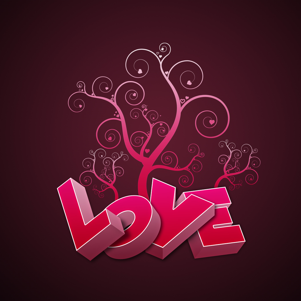 Love Wallpaper Vector : 20+ Love Word Images Themescompany