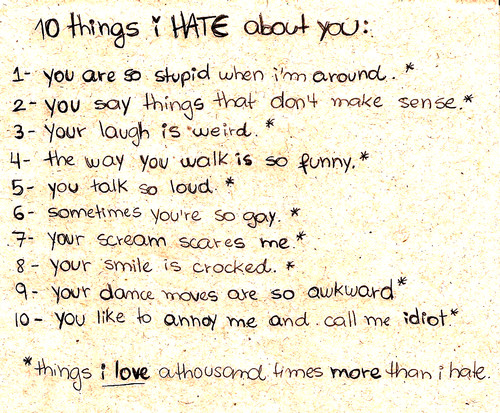 10 Things I Hate About You Poem: 55 Most Aggressive Hate Quotes