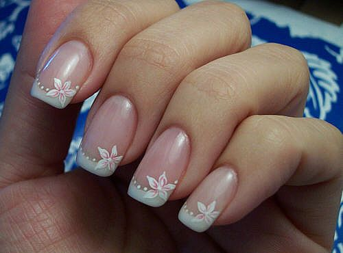 The Extraordinary Flower nail design for prom Picture