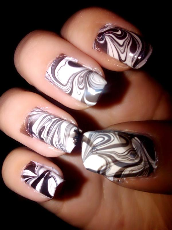 Coffee Shaded Nails