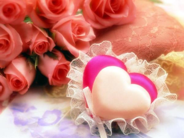 Heart Soap With Roses