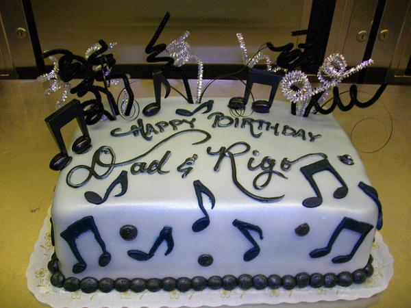 Music Notes In Fondant Cake