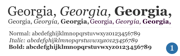 georgia fonts for websites