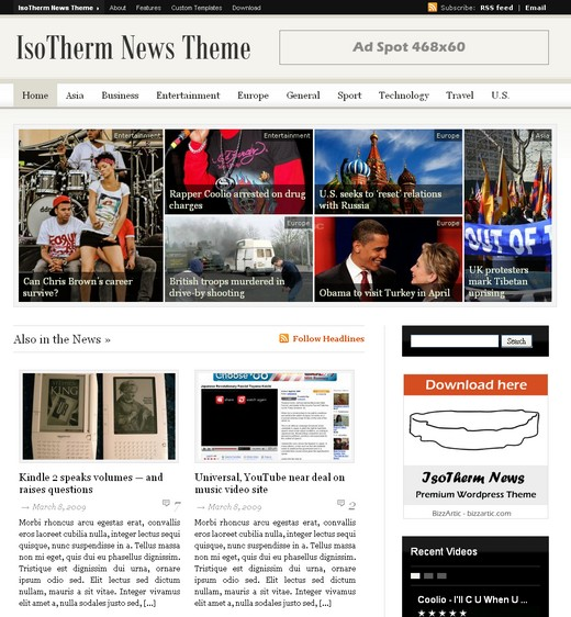 magazine styled theme