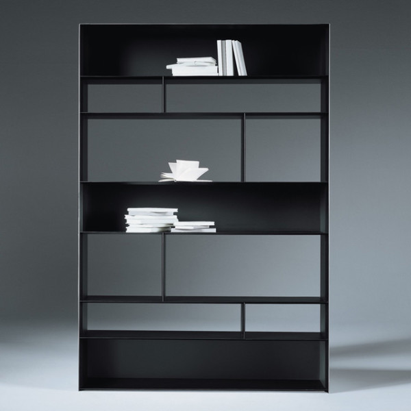 Modern bookcase mission style bookcase wall mounted for Modern minimalist bookcase