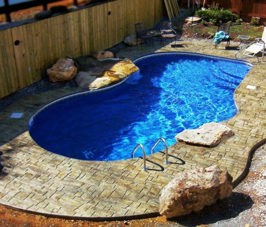 Designs for small garden with pool joy studio design for Backyard swimming pool designs