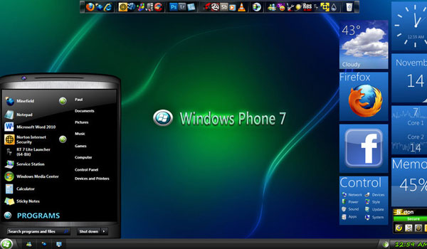 27 Best Windows 7 Themes Top Downloaded Themes Company Design Concepts For Life