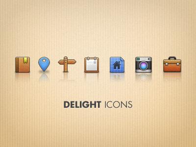 Delight Icons by Jeremy Sallée