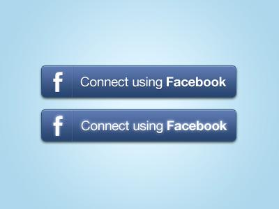 Facebook Connect Buttons PSD by Murat Mutlu
