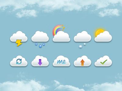 Mini Clouds Set PSD by jackietrananh