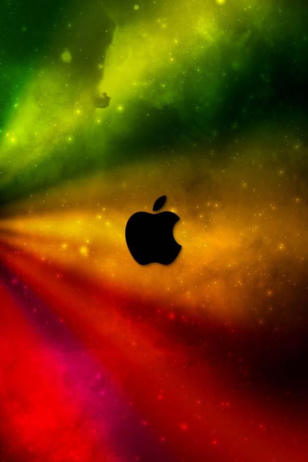 Rastaapple Apple Logo Wallpaper for iPhone 4S