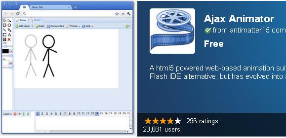 HTML5 Chrome Ajax Animator Tool
