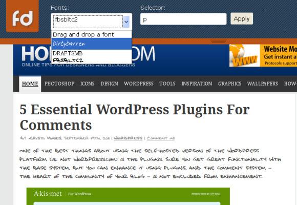 html5 Online Font Testing Tool