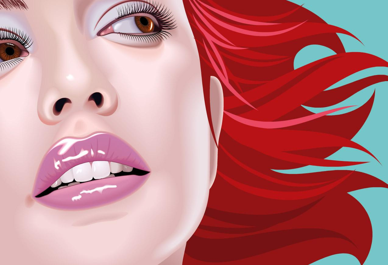 red-waving-hairs-drawn-beautifully HD Inspirational Showcase Of 2011