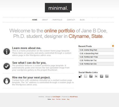 Minimal WordPress Portfolio