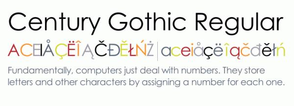 Century Gothic™ Regular