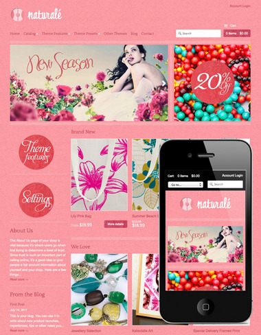 The Expression RESPONSIVE themes