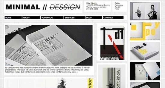 Minimal Portfolio WordPress Theme