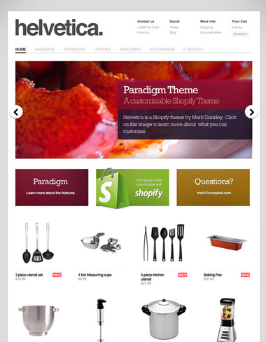 Paradigm customizable theme