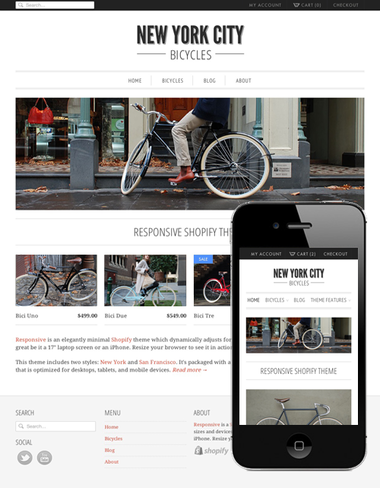 Responsive is an elegantly minimal theme
