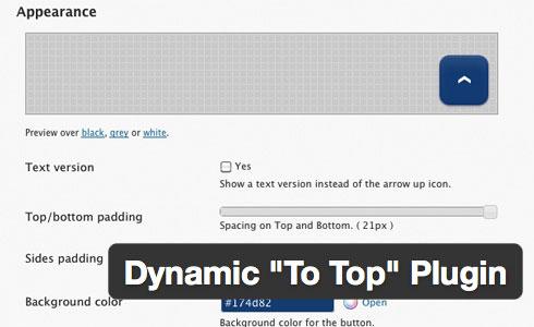 """dynamic """"To Top"""" Plugin"""