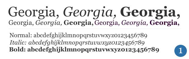 georgia fonts for websites