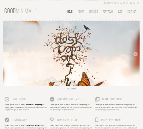 Good Minimal – A Responsive WordPress Theme