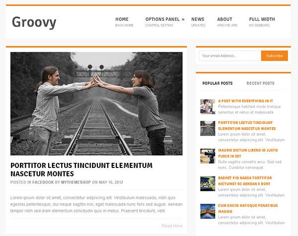 Groovy WordPress Theme
