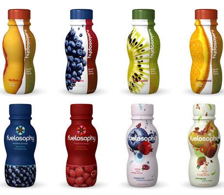 Cororful bottle packaging design