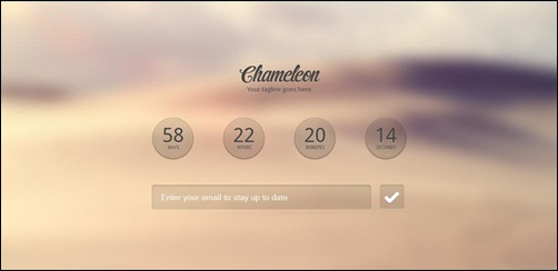 Chameleon responsive coming soon template