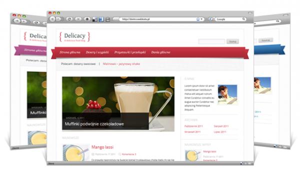 Delicacy Food Blog WordPress Theme